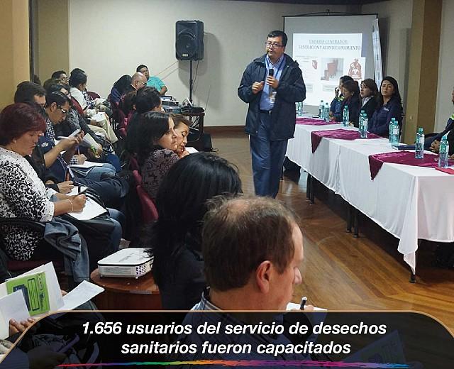 1.656 usuarios del servicio de desechos sanitarios fueron capacitados