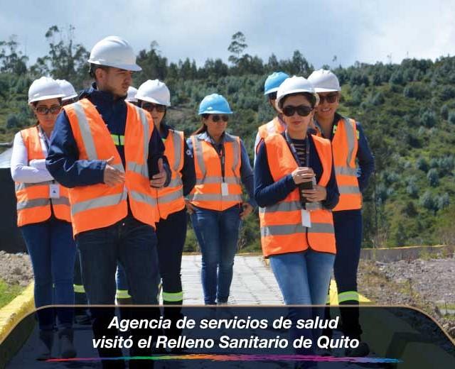 Agencia de servicios de salud visitó el Relleno Sanitario de Quito