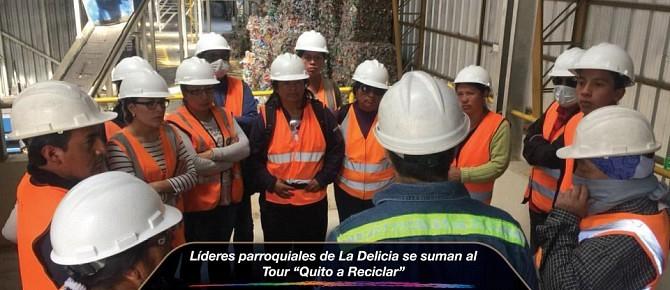 """Líderes parroquiales de La Delicia se suman al Tour """"Quito a Reciclar"""""""
