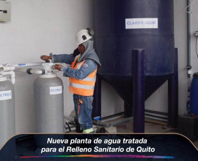 Nueva planta de agua tratada para el Relleno Sanitario de Quito