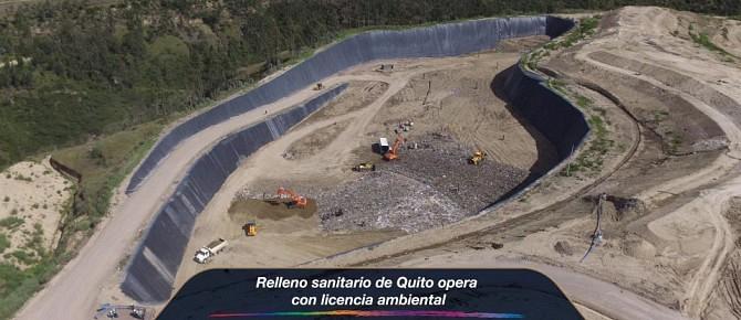 Relleno sanitario de Quito opera con licencia ambiental