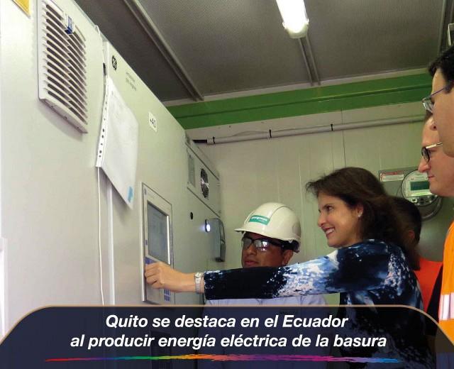 Quito se destaca en el Ecuador al producir energía eléctrica de la basura