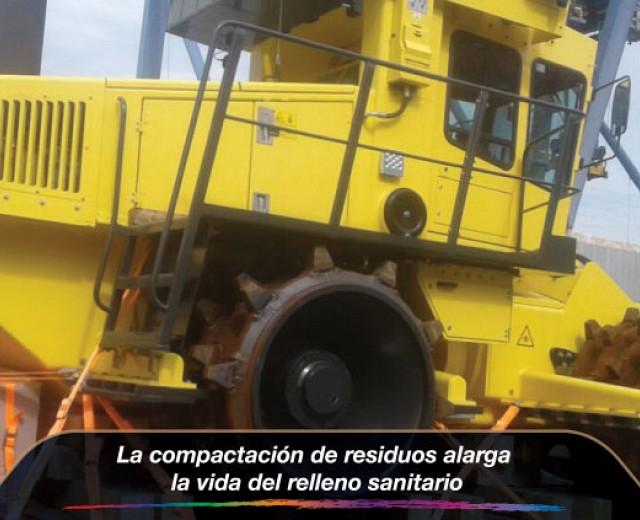 La compactación de residuos alarga la vida del relleno sanitario
