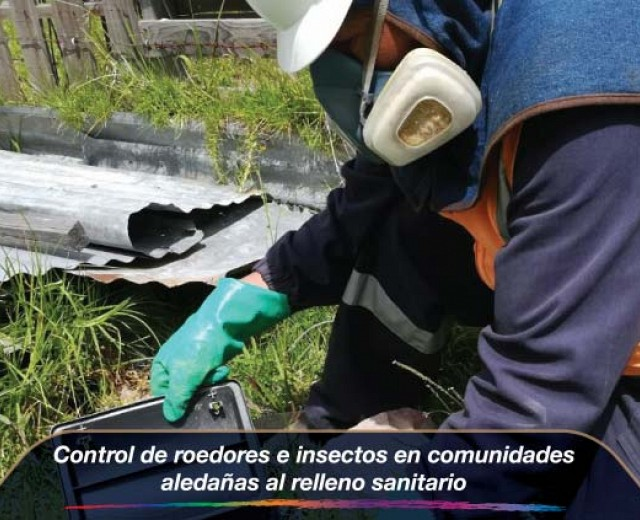Control de roedores e insectos en comunidades aledañas al relleno sanitario
