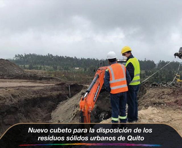 Nuevo cubeto para la disposición de los residuos sólidos urbanos de Quito