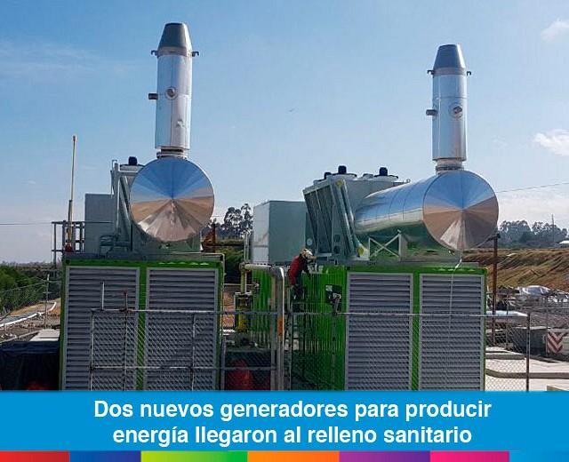Dos nuevos generadores para producir energía llegaron al relleno sanitario