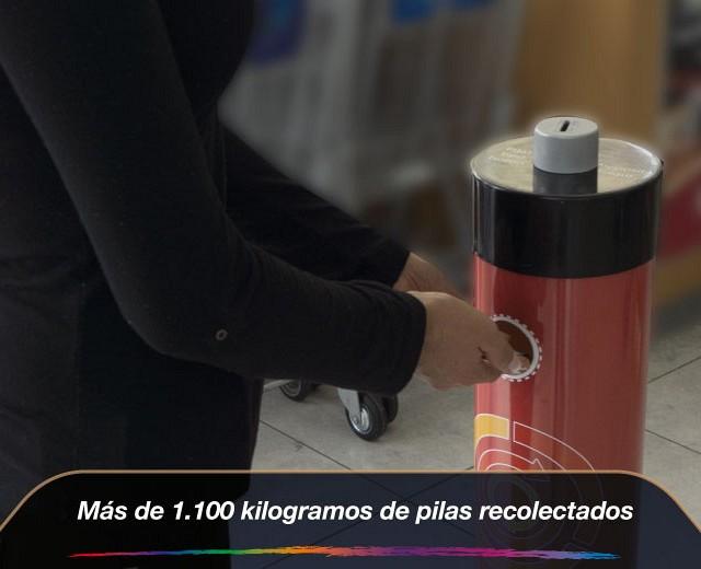 Más de 1.100 kilogramos de pilas recolectados