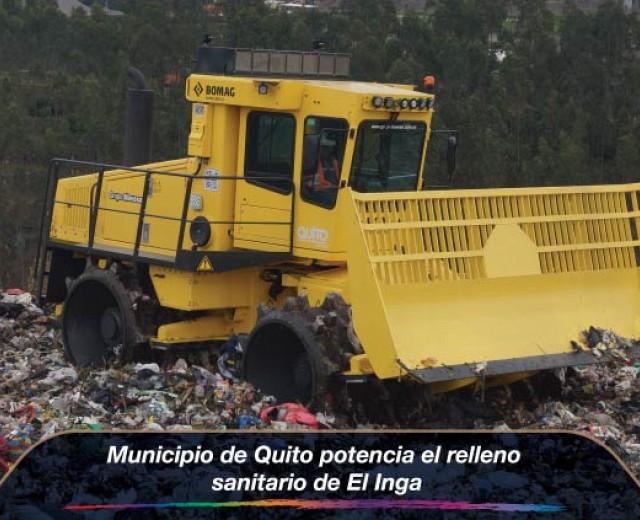 Municipio de Quito potencia el relleno sanitario de El Inga