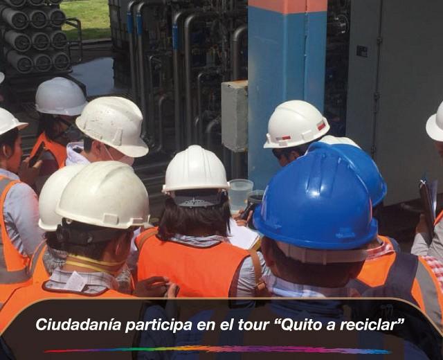 """Ciudadanía participa en el tour """"Quito a reciclar"""""""