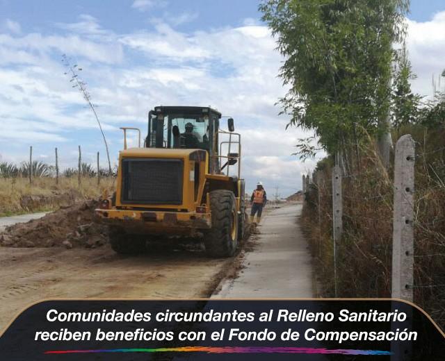 Comunidades circundantes al Relleno reciben beneficios con el fondo de compensación