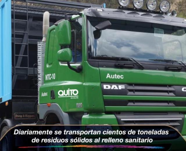 Diariamente se transportan cientos de toneladas de residuos sólidos al relleno sanita