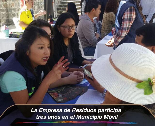 La Empresa de Residuos participa tres años en el Municipio Móvil